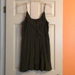 Cute olive green mini dress